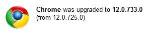 Chrome Dev 12.0.733.0